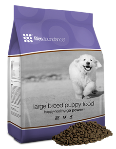 Lifes Abundance Large Breed Puppy Food www.HealthyPetPeeps.com