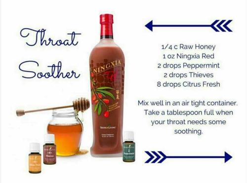 Throat Soother Recipe www.EssentialOils4Sale.com