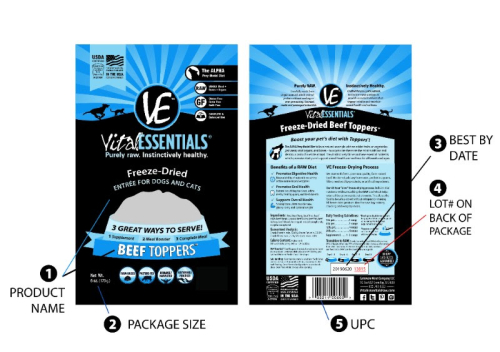 Vital Essentials for dogs and cats recall - www.HealthyPetPeeps.com