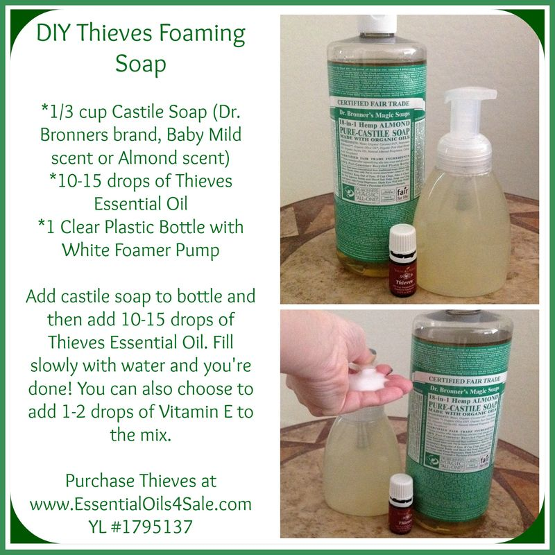 DIY Foaming Hand Soap - Young Living