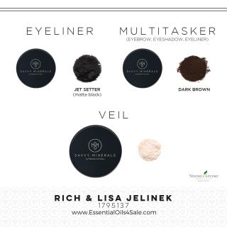 Savvy Minerals Eyeliner Multitasker and Veil Makeup www.EssentialOils4Sale.com