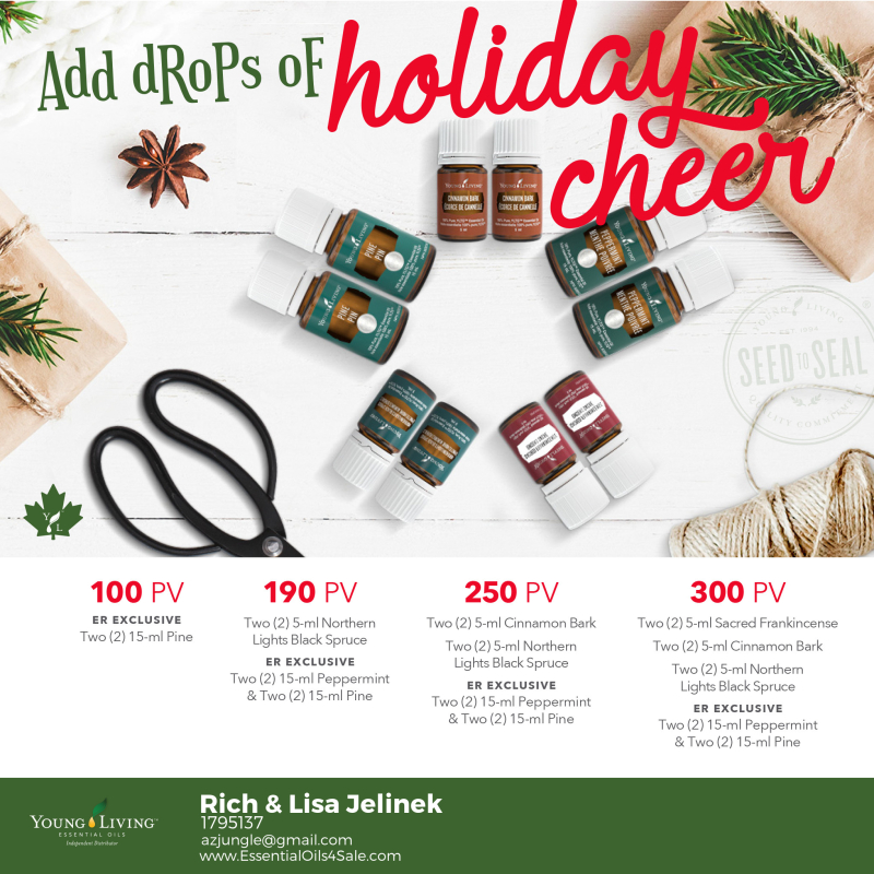 Young Living Christmas Tree.Canada Young Living Essential Oils Promos For December