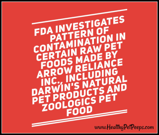 FDA Investigation - Story at  www.HealthyPetPeeps.com