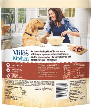 Milos Kitchen Dog Treats Recall www.HealthyPetPeeps.com