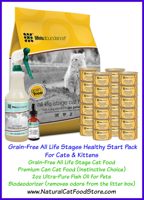 Grain Free Healthy Start Pack For Cats www.NaturalCatFoodStore.com
