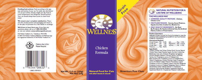 Wellness Chicken Formula Recall