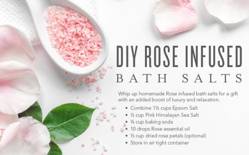 DIY Rose Infused Bath Salts www.EssentialOils4Sale.com