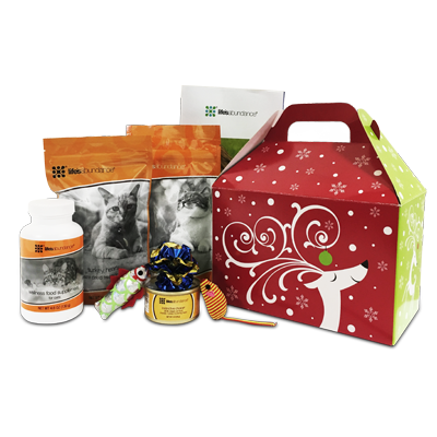 Holiday Cat Gift Basket www.HealthyPetPeeps.com