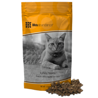 Turkey Hearts Freeze-Dried Cat Treats www.HealthyPetPeeps.com