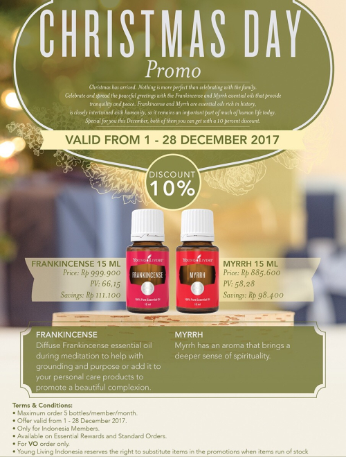 Young Living Indonesia December Promos And Specials! - Essential