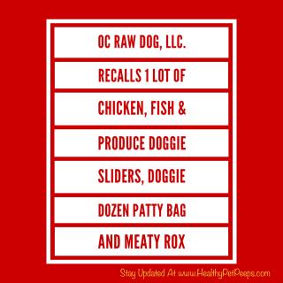 OC Raw Dog LLC Recall www.HealthyPetPeeps.com