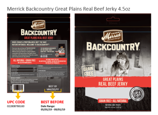 Merrick backcountry great plains beef sausages recalled