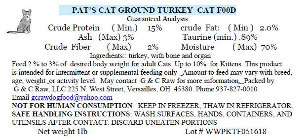 Ground Turkey Cat Food - Stay updated at www.HealthyPetPeeps.com
