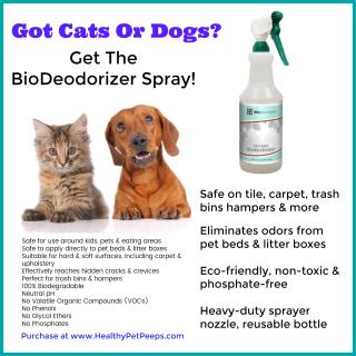 BioDeodorizer Spray www.HealthyPetPeeps.com