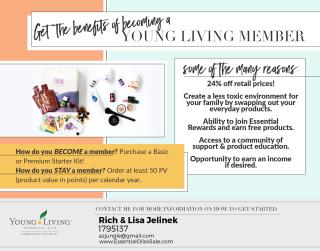 Young Living wholesale membership benefits www.EssentialOils4Sale.com