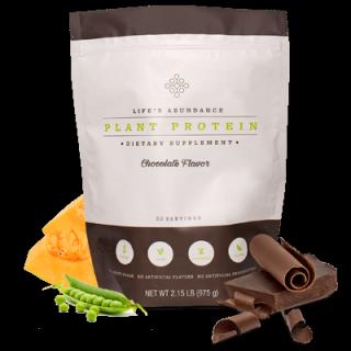 Life's Abundance Chocolate Plant Protein Powder www.HealthyPetPeeps.com