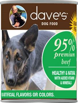 Dave's Dog Food 95% premium beef cans recalled www.HealthyPetPeeps.com