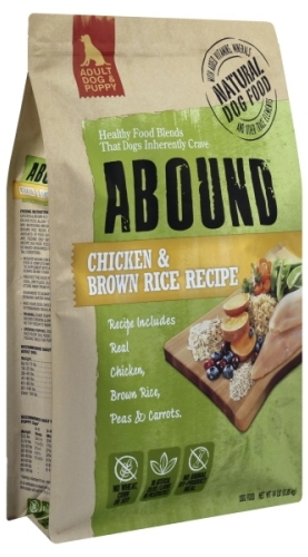 Abound Chicken and Rice Dog Food Recall www.HealthyPetPeeps.com