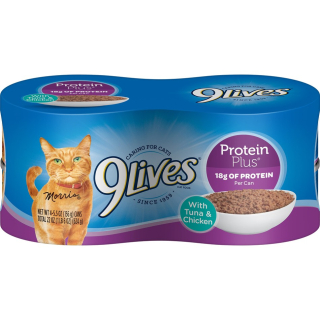 9Lives Protein Plus Canned Cat Food Tuna and Chicken Recall www.HealthyPetPeeps.com