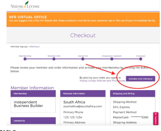 Become a Young Living Member in South Africa Step 9 www.EssentialOils4Sale.com