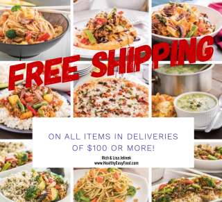 Free Shipping on Deliveries of 100 or more www.HealthyEasyFood.com