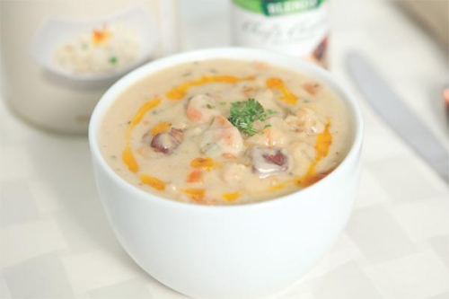 Clam Chowder Recipe www.HealthyEasyFood.com