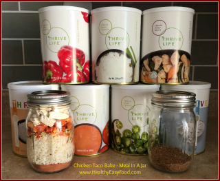 Meal In A Jar Chicken Taco Bake from HealthyEasyFood.com