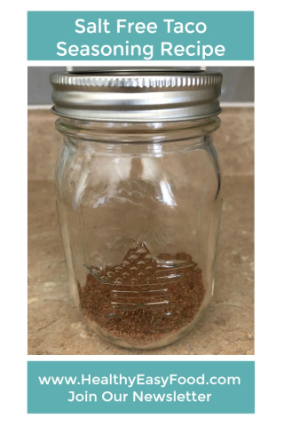 Salt Free Taco Seasoning Recipe www.HealthyEasyFood.com