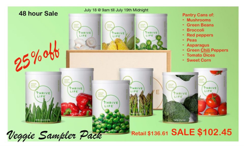 Vegetable Sampler Pack www.HealthyEasyFood.com