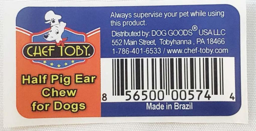 Chef Toby Pigs Ears recalled www.HealthyPetPeeps.com