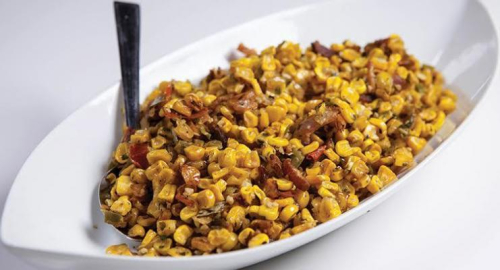 Bacon and Corn Saute www.HealthyEasyFood.com