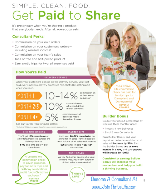 Get Paid To Share - Become A Thrive Life Consultant www.JoinThriveLife.com