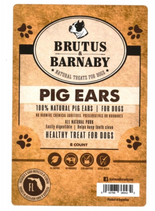 Brutus and Barnaby 8 count Pig Ears Recalled www.HealthyPetPeeps.com