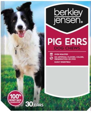Berkley & Jensen pig ear recall www.HealthyPetPeeps.com