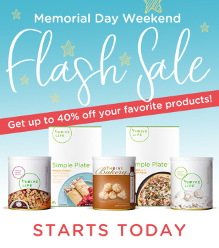 Thrive Life Memorial Day Flash Sale www.HealthyEasyFood.com