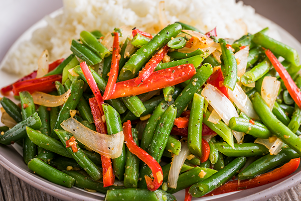 Steamed Red Peppers and Green Beans - www.HealthyEasyFood.com