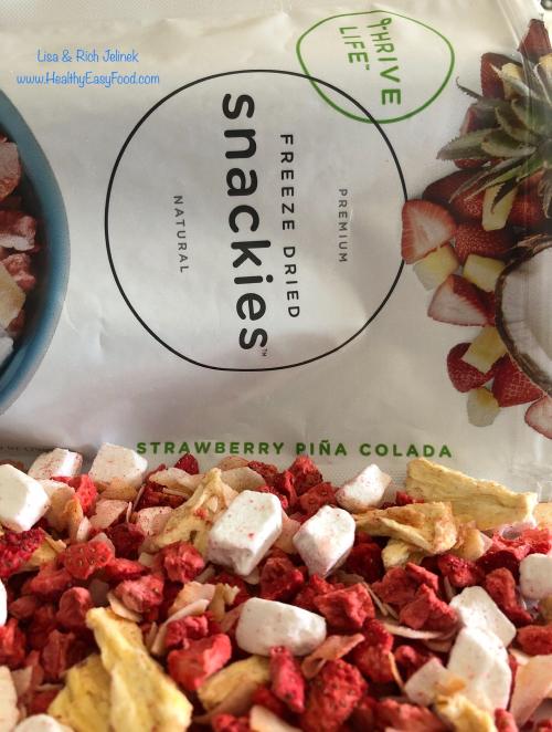 Thrive Life Strawberry Pina Colada Snackie www.HealthyEasyFood.com