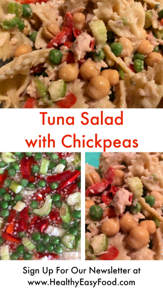 Tuna Salad with Chickpeas from www.HealthyEasyFood.com