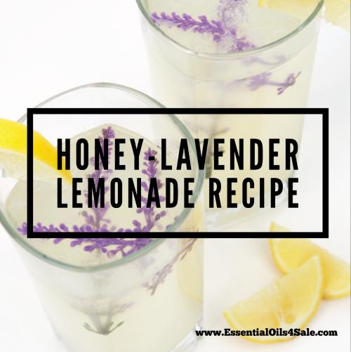 Honey Lavender Lemonade Recipe www.EssentialOils4Sale.com