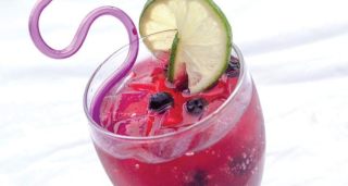 Blueberry Lime Rickey www.HealthyEasyFood.com