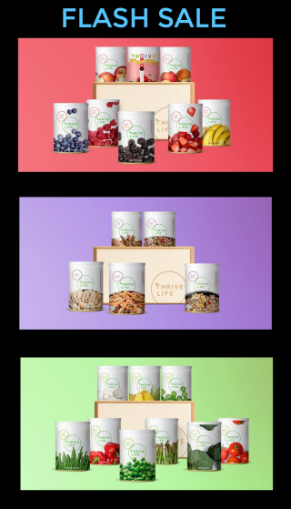 Thrive Flash Sale www.HealthyEasyFood.com