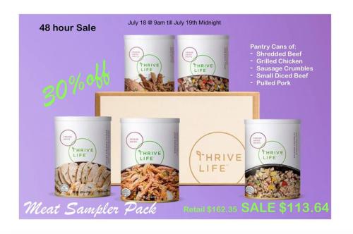 Meat Sampler Pack www.HealthyEasyFood.com