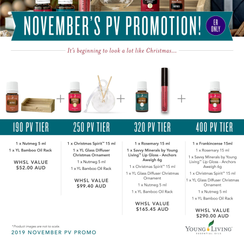 Australia and New Zealand Young Living November Promos www.EssentialOils4Sale.com