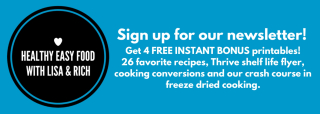 Sign up for our newsletter www.HealthyEasyFood.com