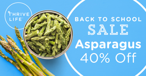 Thrive asparagus is on sale www.HealthyEasyFood.com