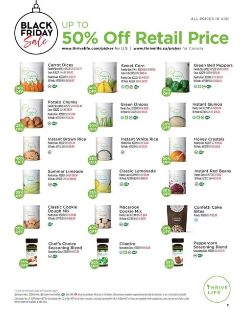 Thrive Life Black Friday Sales Page 2 www.HealthyEasyFood.com