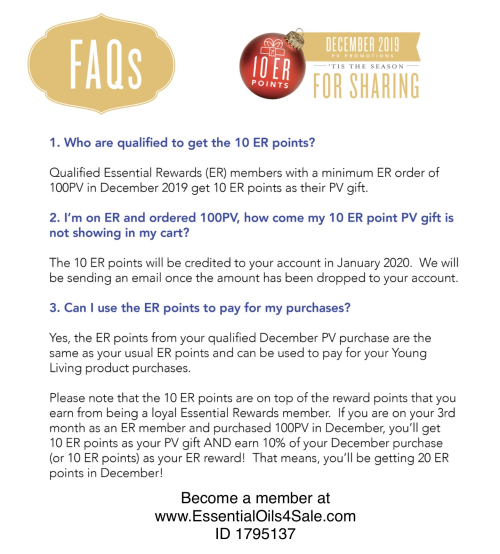 Young Living Philippines FAQ on promos www.EssentialOils4Sale.com