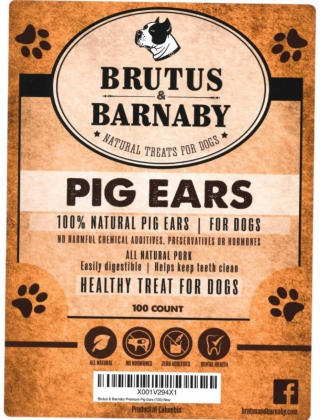 Brutus and Barnaby 100 count Pig Ears Recalled www.HealthyPetPeeps.com