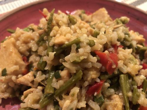Chicken and Asparagus Stir Fry recipe www.HealthyEasyFood.com