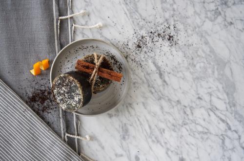 Cinnamon-Orange-Ginger soap with coffee grounds ww.EssentialOils4Sale.com